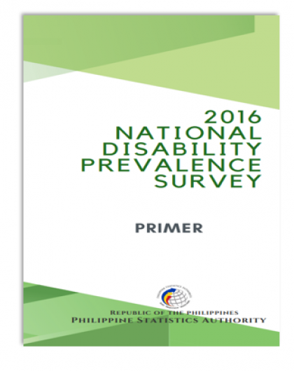 Primer on National Disability Prevalence Survey